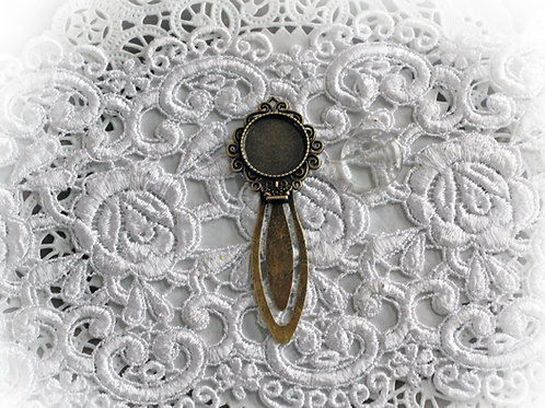 Reneabouquets~ Metal Clip Bookmark With Cabochon