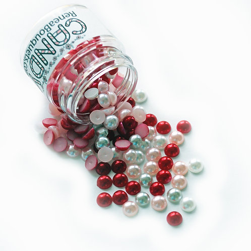 1.8 Ounce Beautiful Beads Sweetheart Candy Flatback Pearls