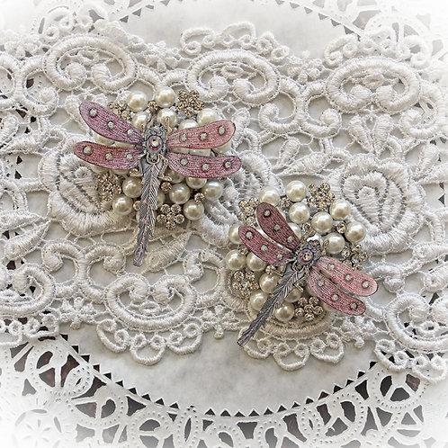 Pendant Pink Premium Paper Dragonflies