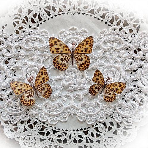 Leopard Premium Paper Butterflies