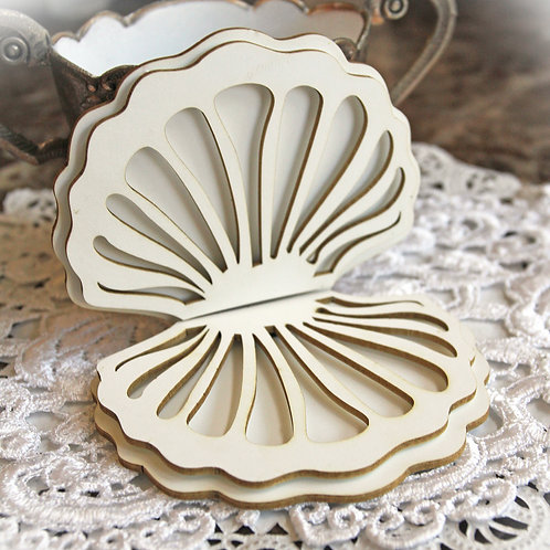 Beautiful Board 4D Large  Shell Compact Laser Cut Chipboard Kit