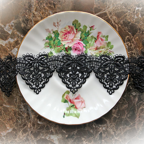 Beautiful Bows Lace~ 2 Inch Wide Black Venice Lace