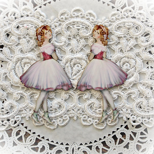 Printed Beautiful Board Small Sugar Plum Ballerina Laser Cut Chipboard