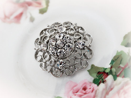 Divalicious Rhinestone Button
