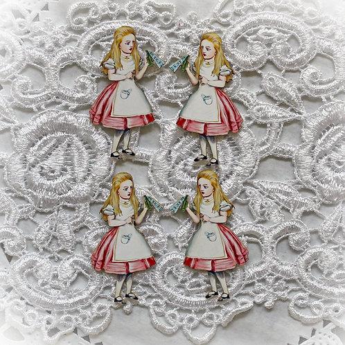 Beautiful Board Alice In Wonderland Itty Bitty Chipboard Set