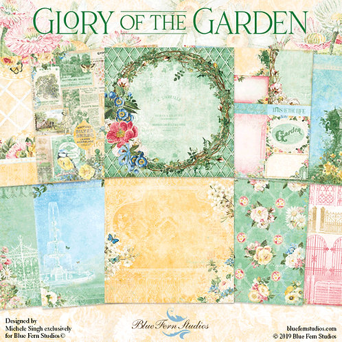 Blue Fern Studios Glory Of The Garden Collection 20 Papers