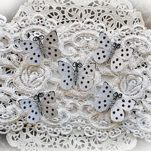 Tiny Treasures Polka Dots & Bling  Butterflies