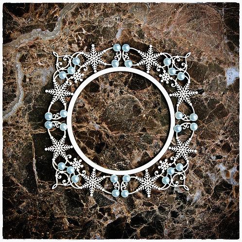 Beautiful Board Decorative Snowflake Frame Laser Cut Chipboard