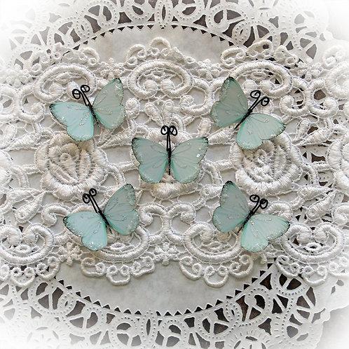 Tiny Treasures Darling Mint Green Premium Paper Glitter Glass