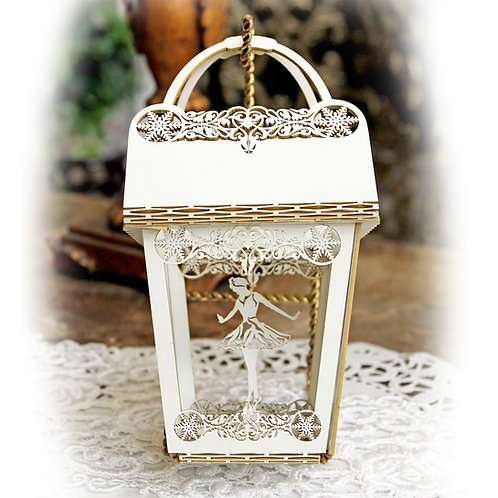 Beautiful Board Ballerina Explosion Ornament, Box, Gift Holder
