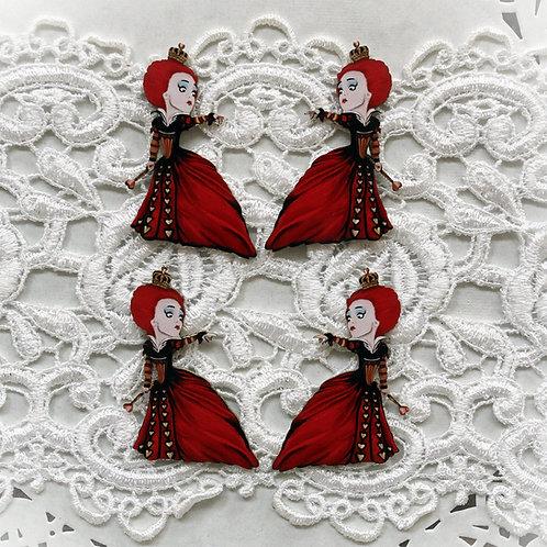 Beautiful Board Red Queen Itty Bitty Chipboard Set