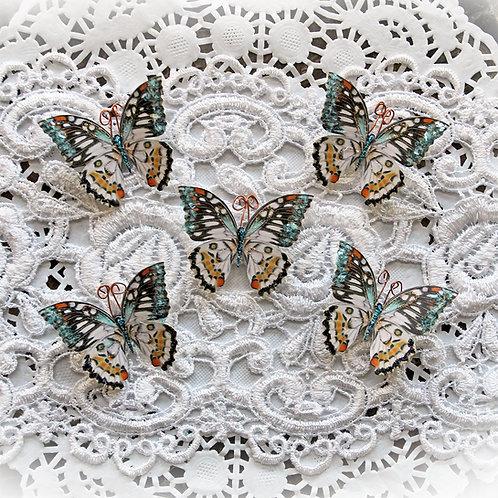 Tiny Treasures Phantasy Premium Paper Glitter Glass Butterflies