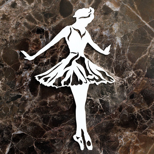 Beautiful Board Small Shabby Abby Ballerina Laser Cut Chipboard
