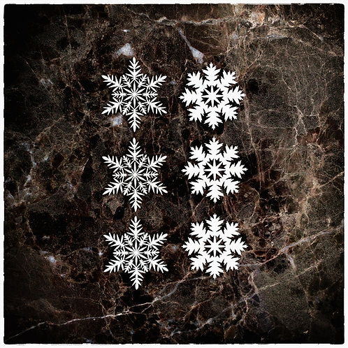 Beautiful Board Large First Snow Snowflakes Set Of 6 Laser Cut Chipboar