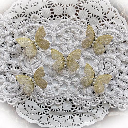 Tiny Treasures Sweet Pea Soft Yellow Premium Paper Glitter Glass
