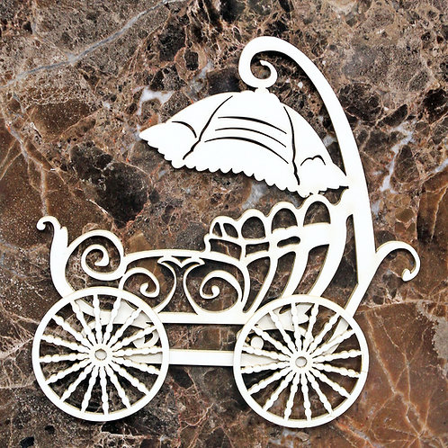 Beautiful Board Medium Victorian Baby Carriage