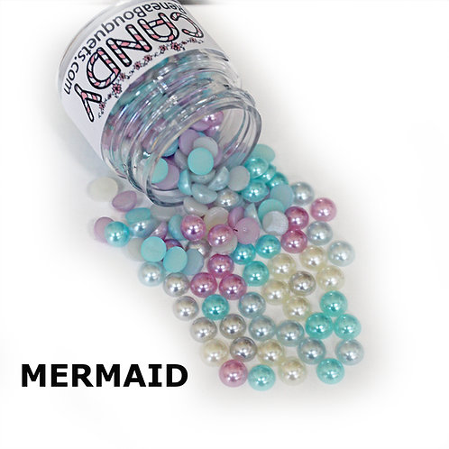 .6 Ounce Beautiful Beads Mermaid Candy Flatback Pearls