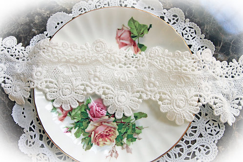 Flower Girl Lace~ White