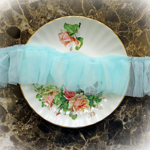 Reneabouquets Trim-Soft Teal Pleated Tulle