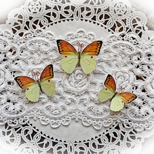 Citrine Quartz Premium Paper Butterflies