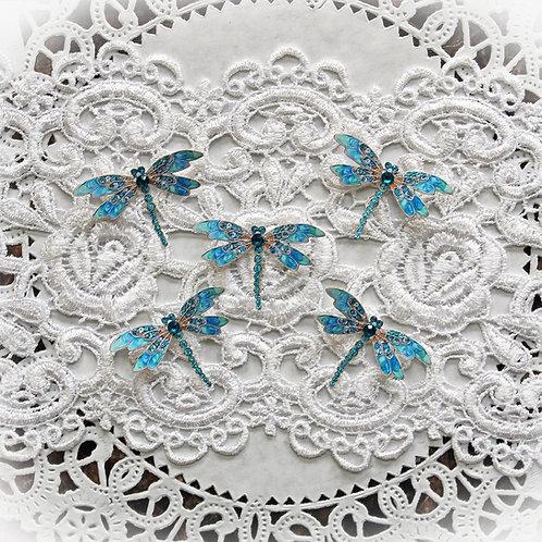 Tiny Treasures Teal Jewelry Premium Paper Dragonflies