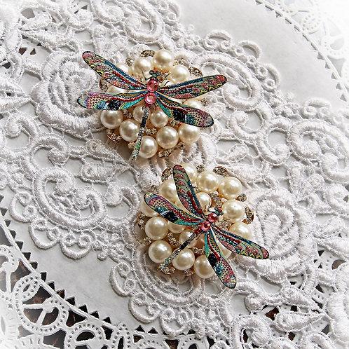 Mosaic Tile Premium Paper Dragonflies