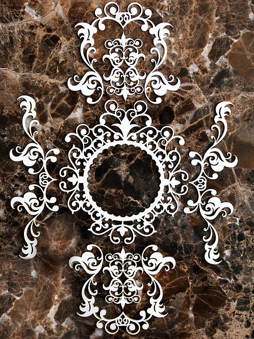 Beautiful Board Tiny Victorian Scroll Pattern Laser Cut Chipboard