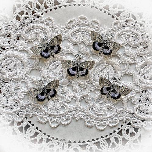 Tiny Treasures Moon Dance Glitter Glass Premium Paper Moths