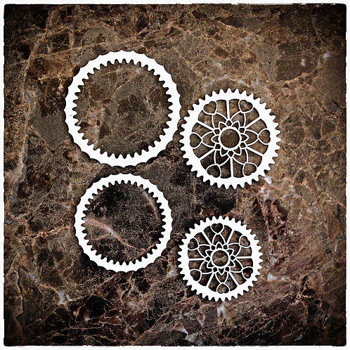 Beautiful Board Spring Gears and Cogs Laser Cut Chipboard