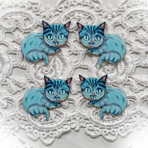 Beautiful Board Cheshire Cat  Itty Bitty Chipboard Set