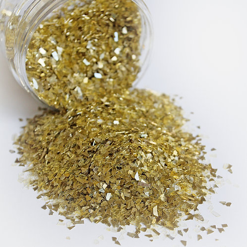 .5 Ounce Gold Shard German Glitter Glass