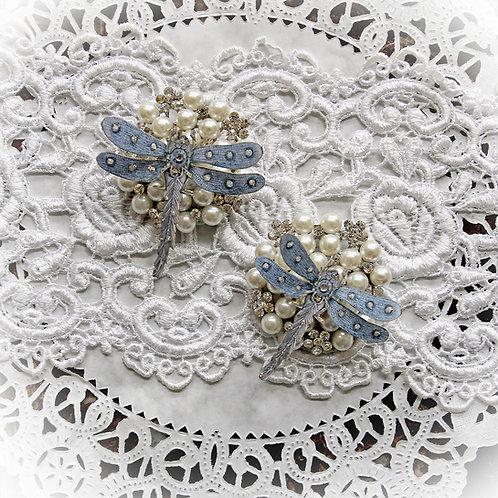 Pendant Blue Premium Paper  Dragonflies