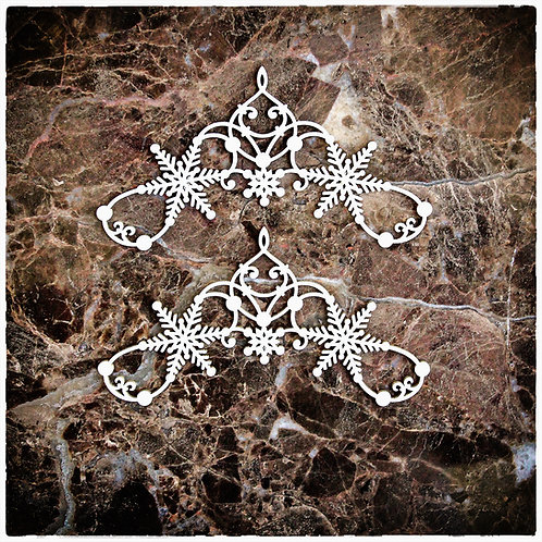 Beautiful Board Large Decorative Snowflake Accents Set Of 2
