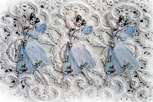 Vintage Ballerina Fairy #3 Premium Paper Die Cuts