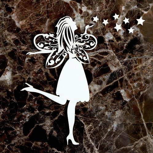 Beautiful Board Large Fairy Kisses Laser Cut Chipboard