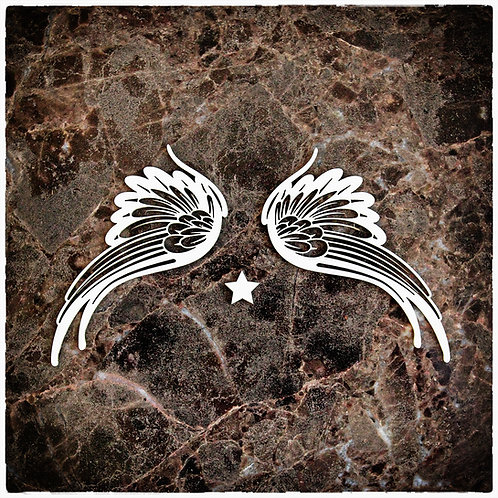 Beautiful Board Medium Celestial Wings Laser Cut Chipboard