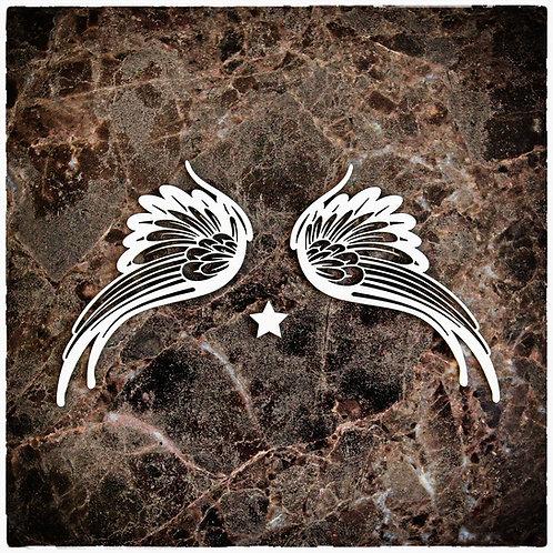 Beautiful Board Large Celestial Wings Laser Cut Chipboard