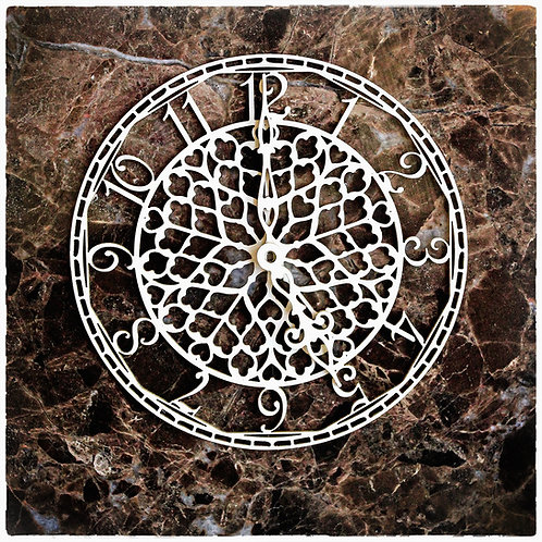 Beautiful Board Medium Sweetheart Clock Face Laser Cut Chipboard
