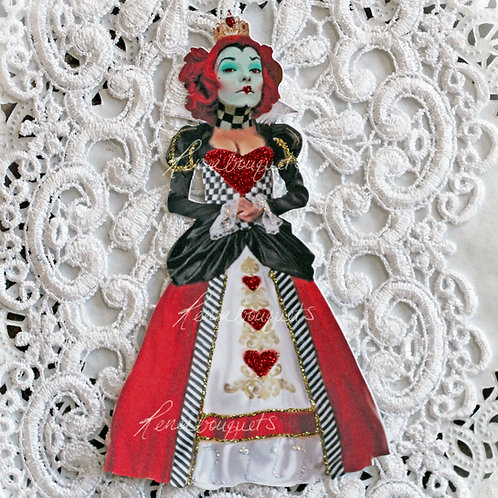 Small Red Queen Premium Paper Die Cuts~Alice In Wonderland