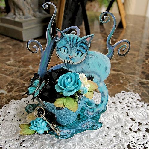 Wonderland Cheshire Cat 3D Tea Cup DIY Kit Premium