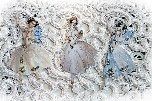 Vintage Ballerina Fairy Mixed Premium Paper Die Cut Set