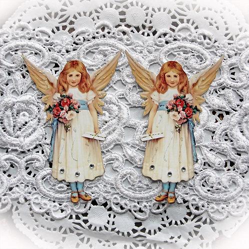 Small Sweet Vintage Flower Fairy Premium Paper Die Cuts