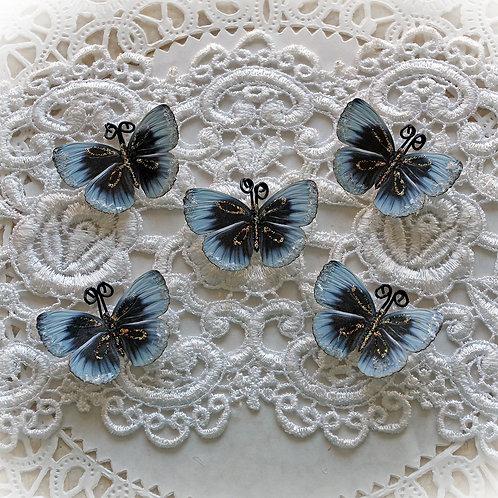 Tiny Treasures Frosty Kisses Premium Paper Glitter Glass Butterflies