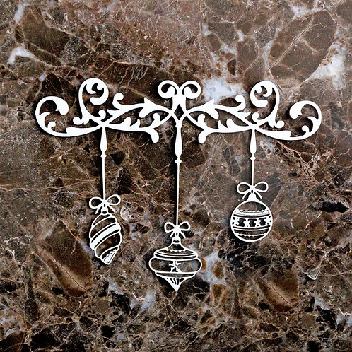Beautiful Board  Decorative Scroll Christmas Flourish