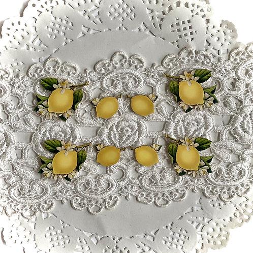 Printed Beautiful Board Large Tuck It In Lemon Blossoms Chipboard