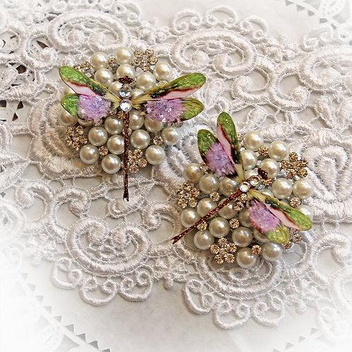 Enchanted Garden Premium Paper Glitter Glass Dragonflies
