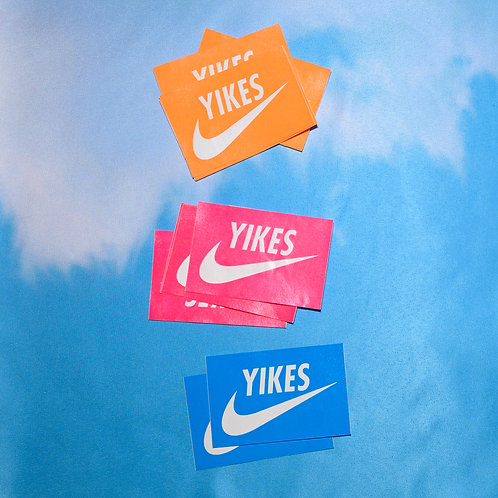 """yikes"" sticker"