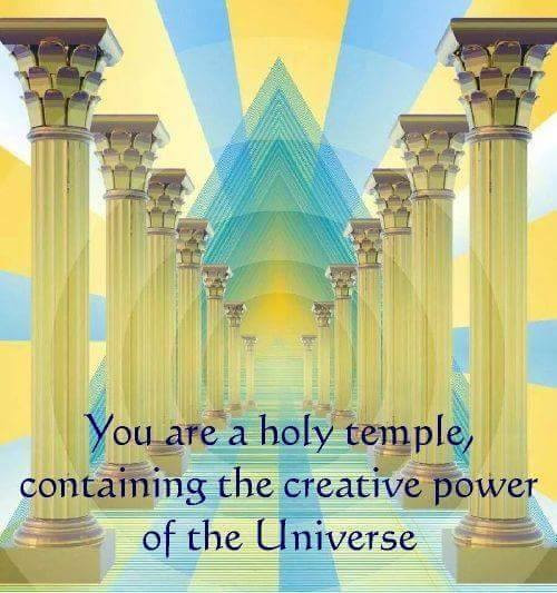 I'm a holy temple containing the creative power of the Universe ! ......Never !!