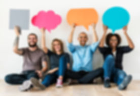 People carryng speech bubble icons.jpg