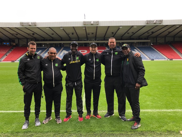 At Hampden Park with Jamaica
